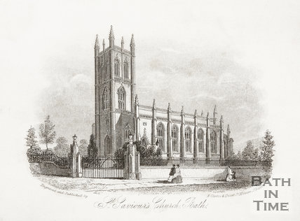St. Saviour's Church, Larkhall, Bath c.1851