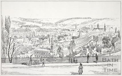 View from Camden Crescent, Bath c.1890-1920