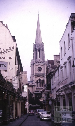 St. Michael's Church from Green Street, Bath 1964
