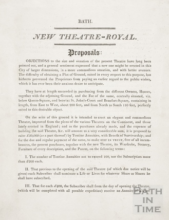 New Theatre Royal Proposals, Bath