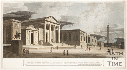 Imaginary view of the Roman Temple of Minerva 1802