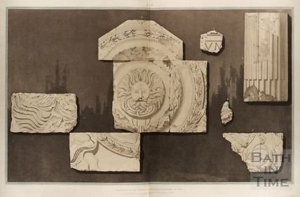 Fragments of the Temple of Minerva discovered at Bath 1802