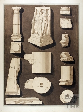 Roman Antiquities discovered at Bath 1802