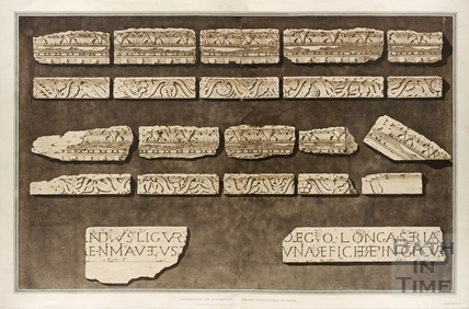 Fragments of a Cornice and Frieze discovered at Bath 1802