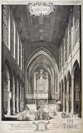 A Perspective View of The Abbey Church of St. Peter and Paul at Bath 1750