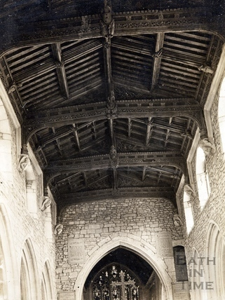 Church roof, dedicated to St. Julian, Wellow c.1900