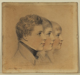 Portrait heads of three boys