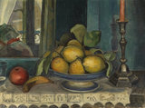 Still life with fruit and candlestick