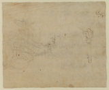 Cavalryman riding along a road (verso)