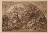 Louis XIV crossing the Rhine (recto)