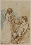 Group of four children (recto)