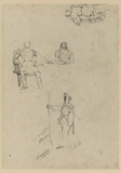 Men in costume (four studies - probably not by Alken?) (verso)