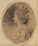 Bust portrait of a lady