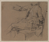 Study for 'Sir Sampson Gideon and his tutor, Signor Basti' (National Gallery of Victoria, Australia)