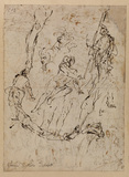 Studies of groups and figures (verso)