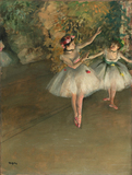 Two dancers on a stage