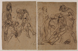 Two studies for the 'Death of Major Pierson' (Tate Gallery) (recto)