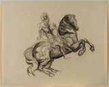 Study of an equestrian statuette