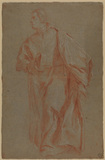 Study of a standing ecclesiastic (verso)