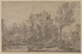 Landscape with chateau (recto)