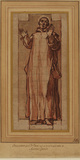 Figure of a male saint