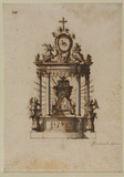 Design for a tabernacle, with the Chair of Saint Peter