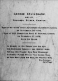 St Paul's Cathedral;The Crypt;Memorial to George Cruikshank