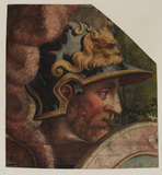 Head of a warrior (fragment of a tapestry cartoon)