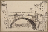 Arch of the bridge 'alle Grazie' in Florence