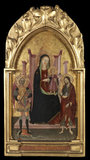 Virgin and Child enthroned with Saint Michael and Saint John the Baptist