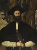 Bearded man with a falcon