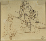 Young boy on a see-saw (verso)