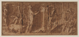 Design for a frieze - after the Cleobis and Biton relief in Venice