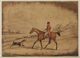 Foxhunting scene and 'Going out of kennel'