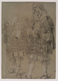 Study of two heralds in ceremonial dress