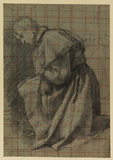 Young man kneeling