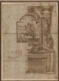 Design for a chimney piece (recto)
