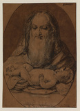 Simeon holds the Christ Child in his arms