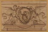 Design for an overdoor, with the eagle of the Borghese arms