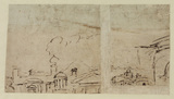 Fragment of an architectural sketch