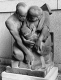 The Carpenter, Kneeling Couple with their Baby