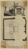 Design for a staircase in the house of Mr de Genas (recto)