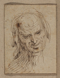 Head of a man (recto)