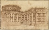 Louvre, east facade (study for the First Project)