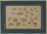 Studies of animals (verso)