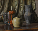Still Life with Candle and Earthenware Pots