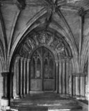 The south door to the Cloisters, Norwich Cathedral
