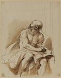Seated figure of Saint Jerome