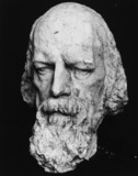 Model for the statue of Tennyson