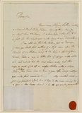Letter from Gainsborough to Thomas Harvey at Norwich (recto)